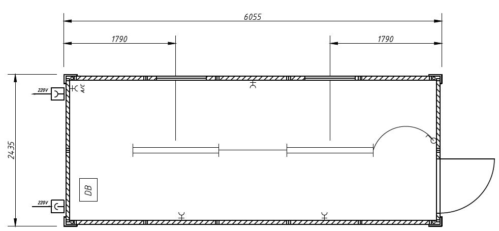 15 sqm studio (1 TransPack module)