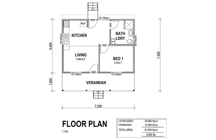 Kit Homes Oxford Floorplan