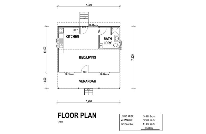 Kit Homes Kingaroy Trinity Floorplan