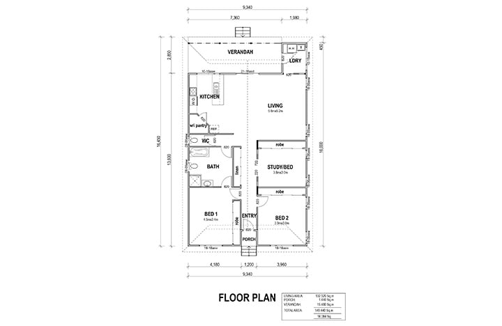 Kit Homes Abbey View Floor Plan