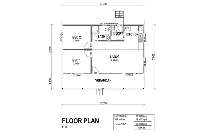 Kit Homes Avila Floor Plan