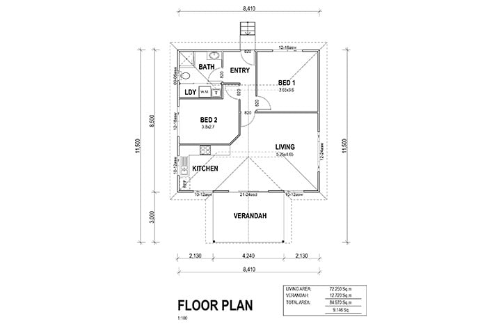 Kit Homes Casa Bianca Floor Plan