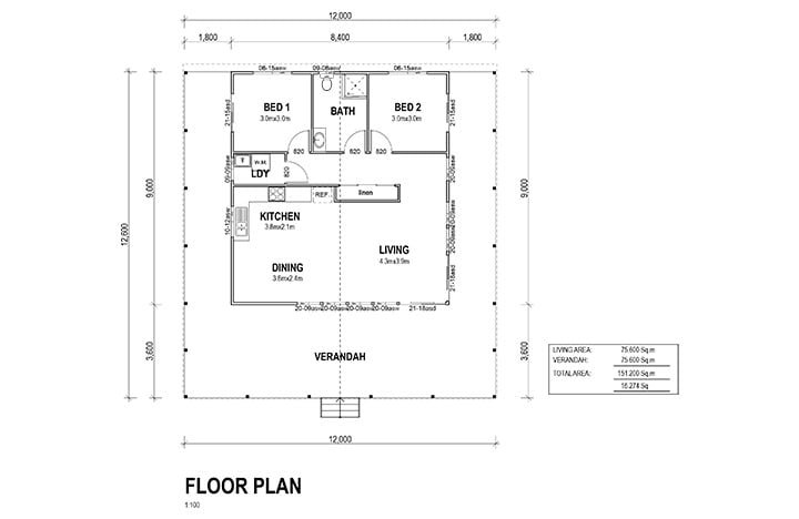 Kit Homes Westwood Floor Plan
