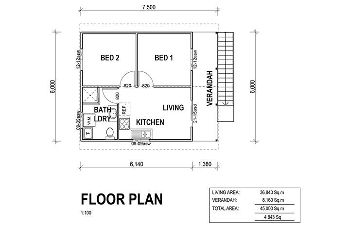 Kit Homes Portland Floor Plan