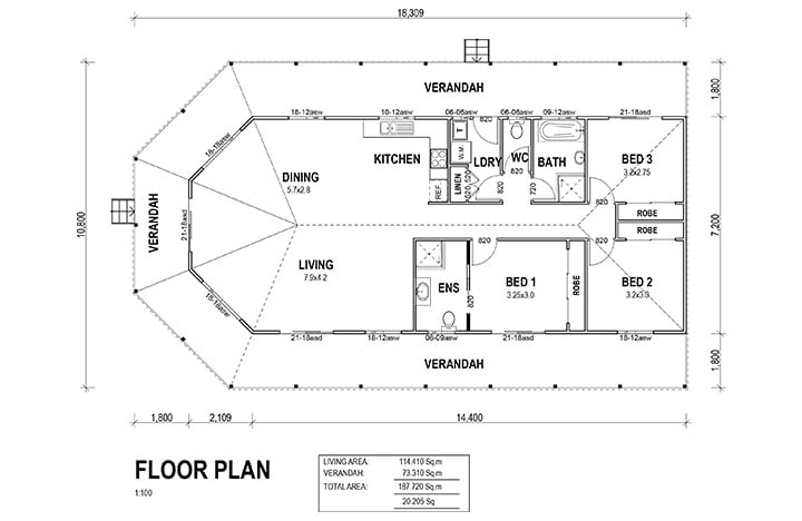 Kit Homes Banksia Floorplan