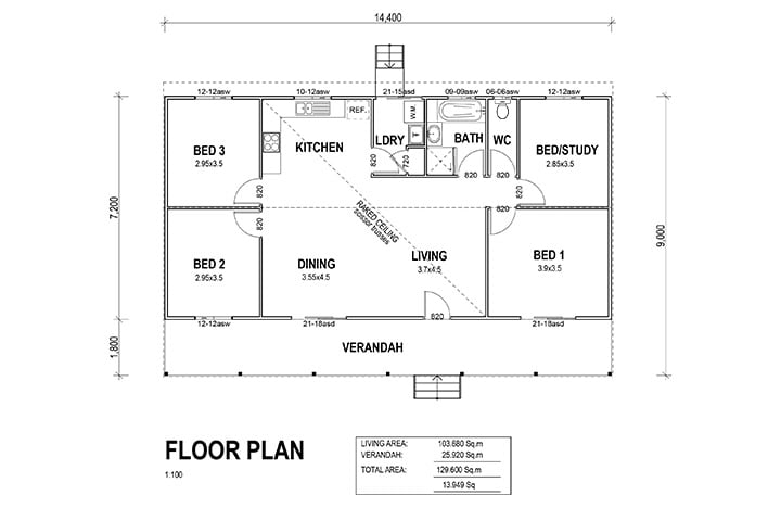 Kit Homes Bayview Floor Plan