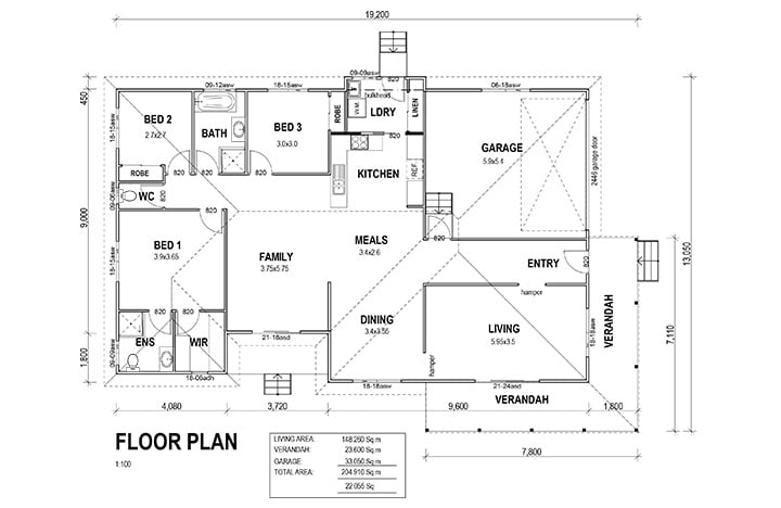 Kit Homes Orange Floor Plan