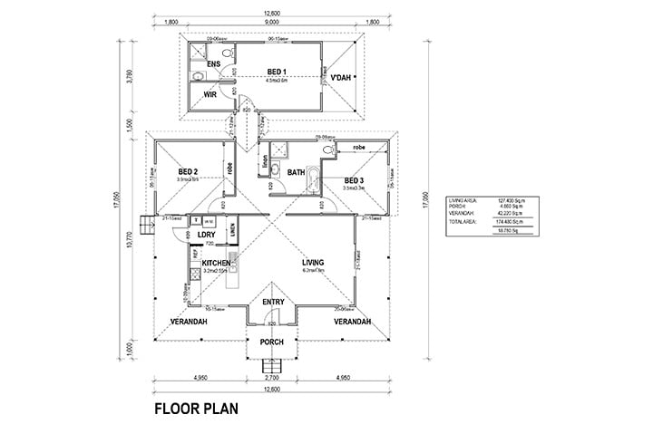 Kit Homes Newman Floorplan Fairview