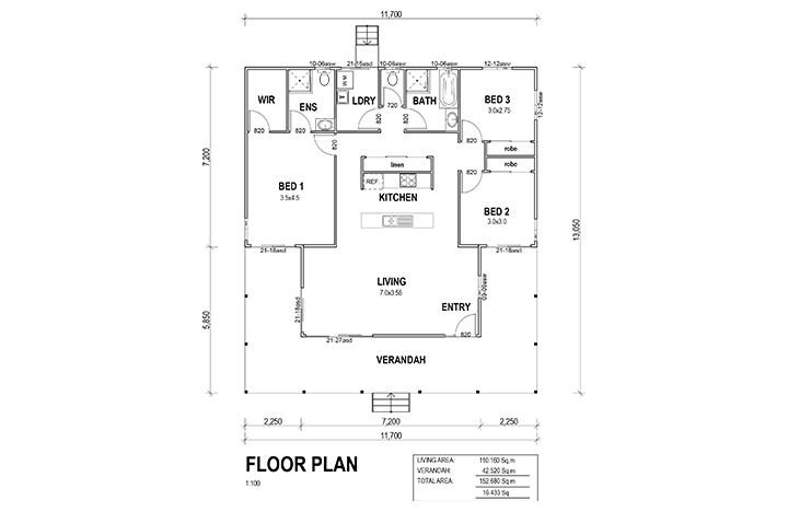 Kit Homes Hillview Floorplan