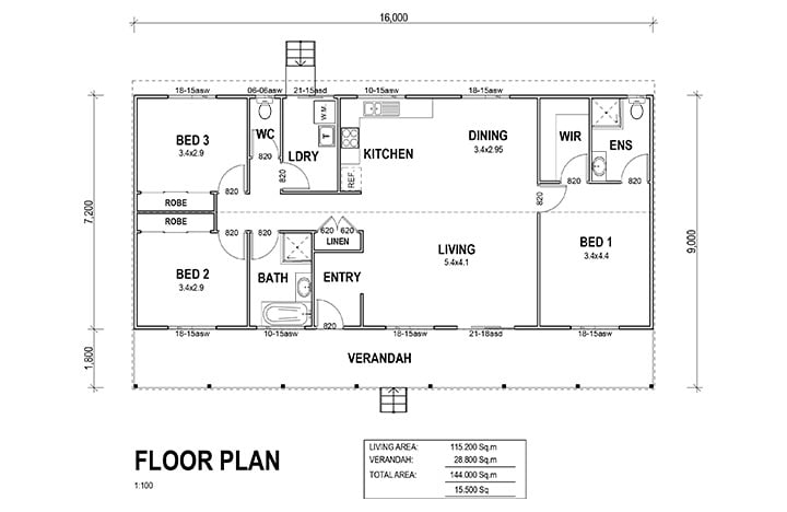Kit Homes Emerald Floor Plan