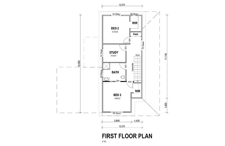 Kit Homes Central Coast First Floor Plan Sundrift