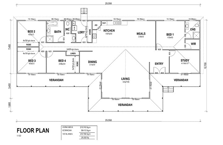 kit homes Newcastle floorplan