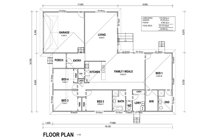 kit homes san remo floorplan