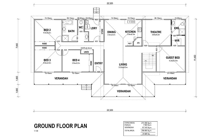 Kit Homes Gold Coast Ground Floor Plan