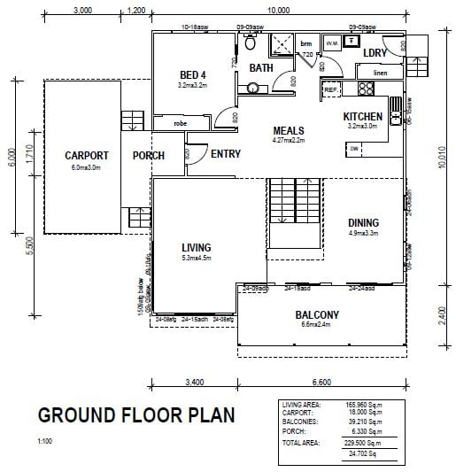 Kit home valley heights ground floor plan
