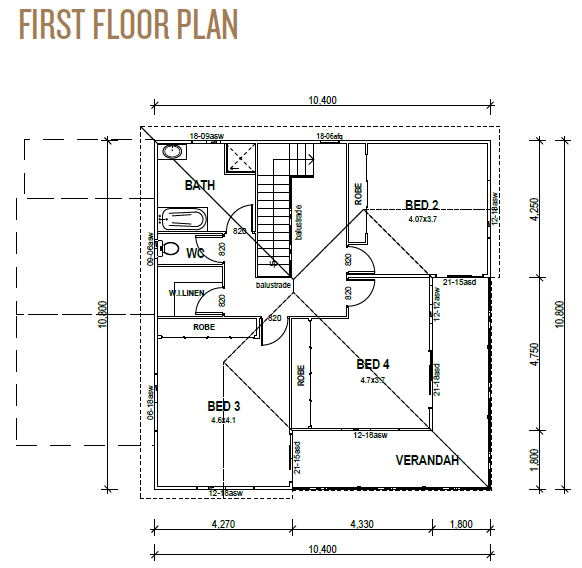 Kit Homes Sunshine Coast First Floor Plan