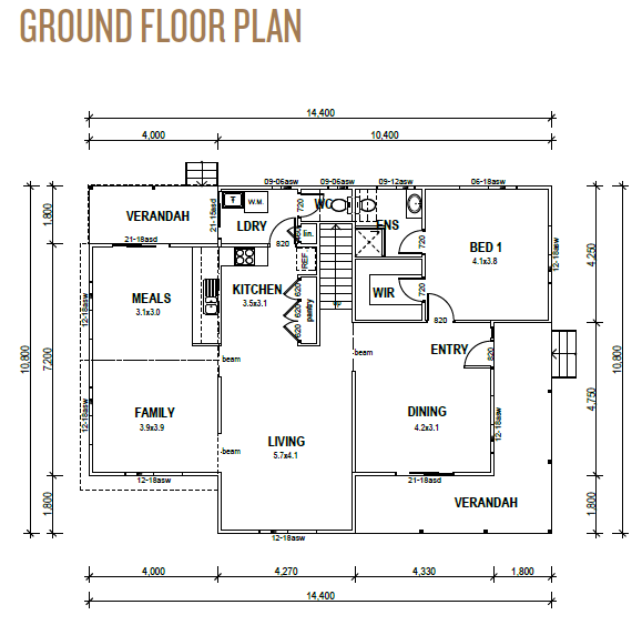 Kit Homes Sunshine Coast Ground Floor Plan