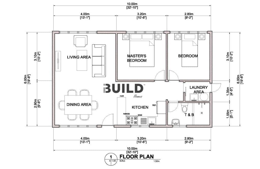 Granny flats parramatta kit homes parramatta for Floor plan granny flat