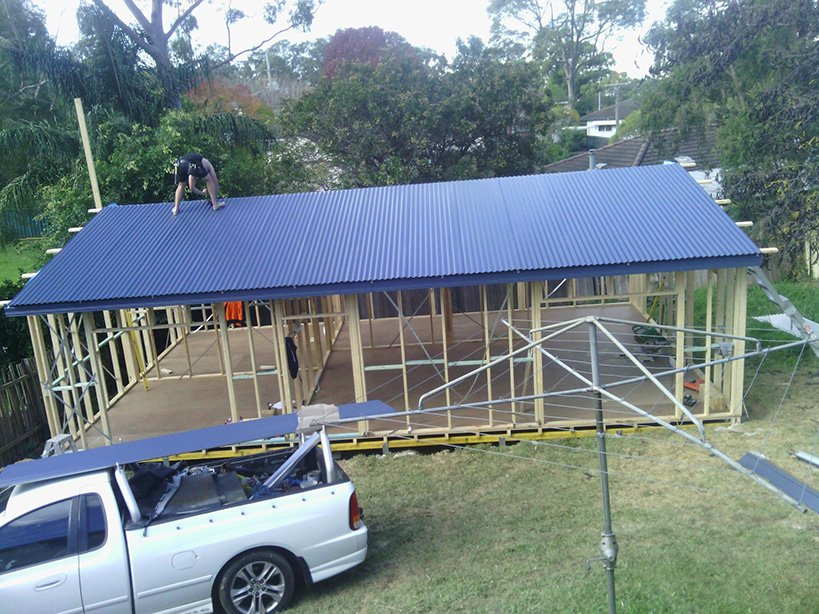 Granny flats Sydney - Day 7 Colourbond roofing