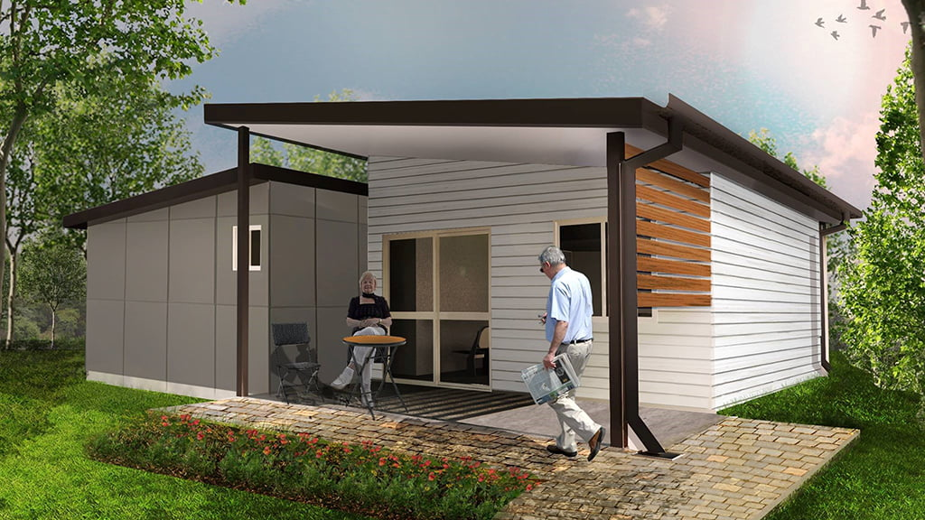 Ibuild lekofly modular homes l60 2 bedroom cabins for Granny cabins
