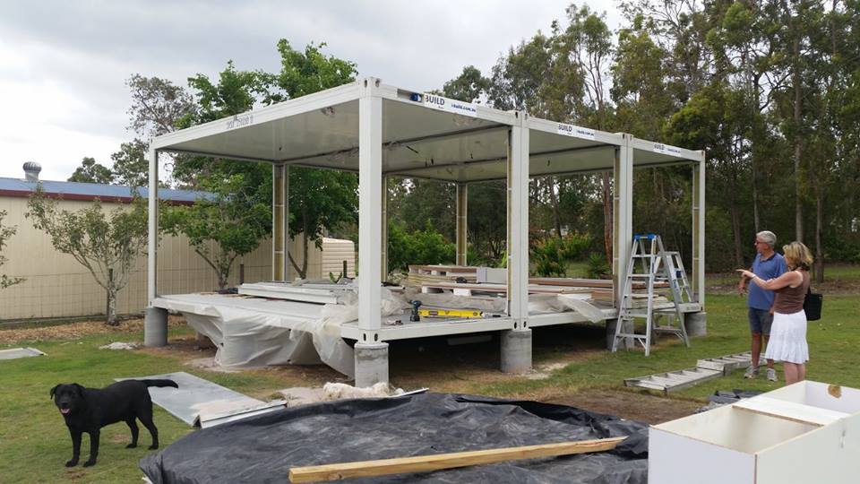 Steel Frame Structure TransPack and Lekofly modular homes FB