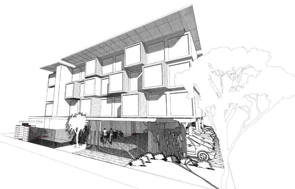 iBuild Lekofly modular building 4 Storey 3D