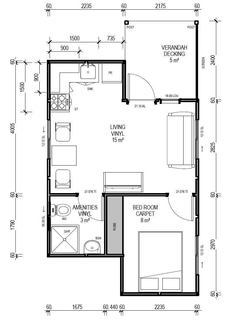 ibuild lekofly modular homes l30 1 bedroom cabin