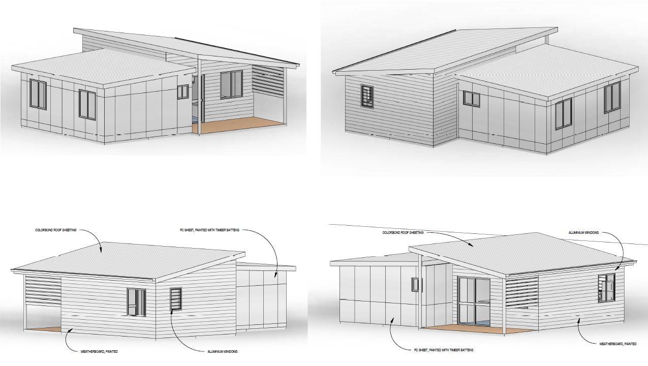 iBuild Lekofly Modular Homes | L60 2-bedroom Cabins